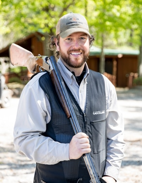 Cody Matson Shooting Instructor Cherokee Rose Sporting Clays, man with shotgun